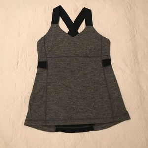 Lululemon black and gray tank